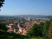 View of Ljubljana from Castle Hill - www.countrybagging.com